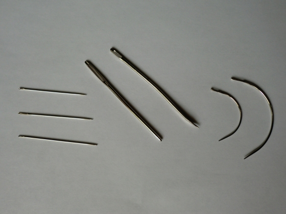 Needles found in a upholstery needle kit,