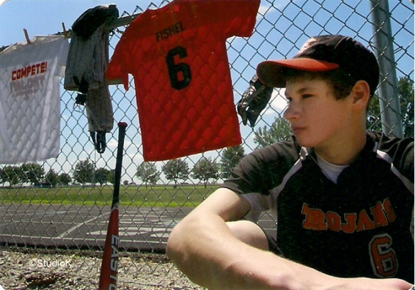 "Derek's Baseball Picture ""Saving Money on Senior Pictures"" frugalfish.org"