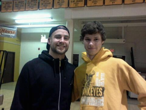 Tyler Sash and my son, Derek.
