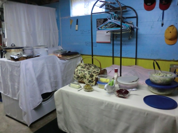 My laundry room during the dinner.