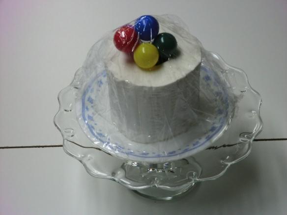 Diabetic birthday cake.