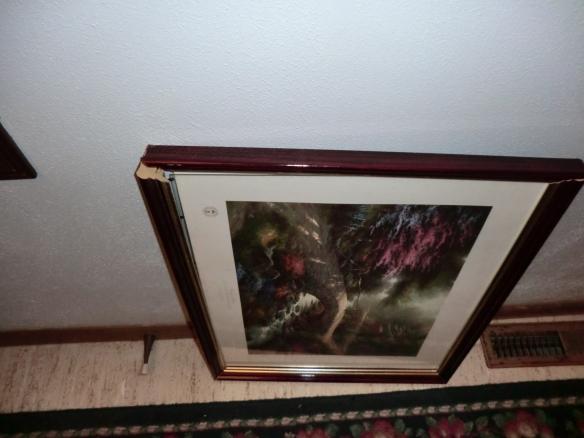 Broken picture frame.