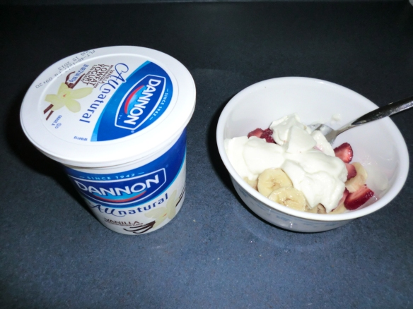 FRUIT and yogurt.