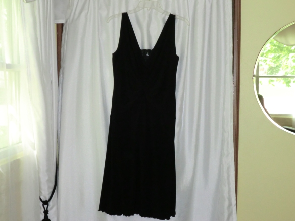My little black dress with a lace insert.