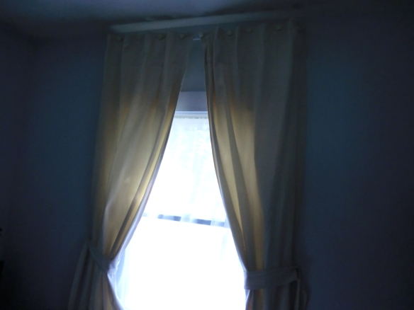 My drapes made from a drop cloth.