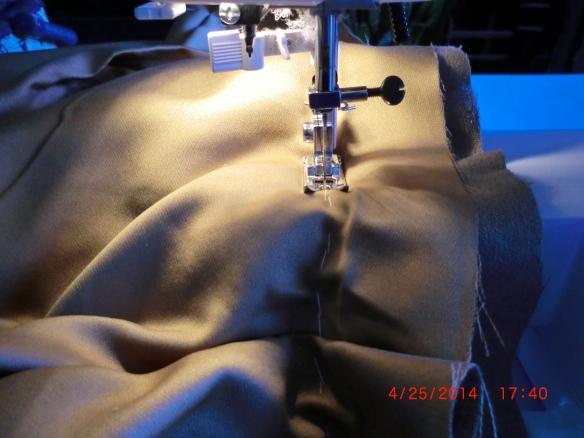 Sewed along the basting.