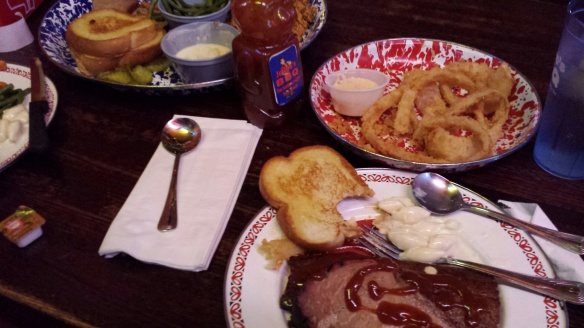 '4 Meat Dinner for 2' at Jethro's BBQ, Altoona, IA.