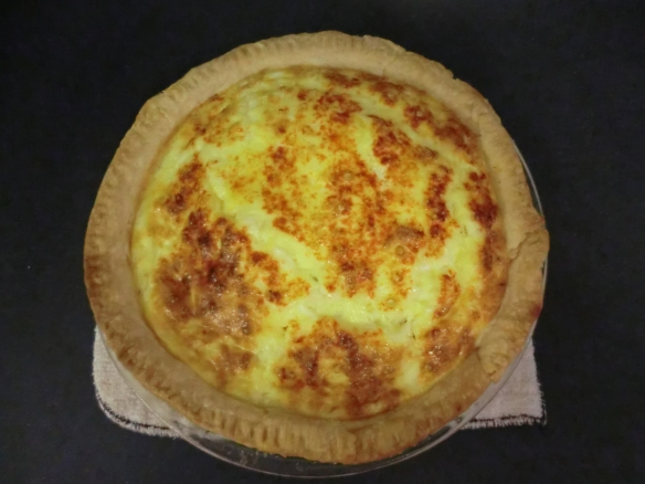 Quiche Frugalfish made with sausage, not bacon.