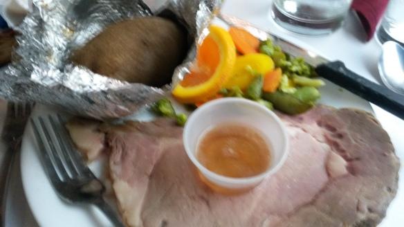 Prime Rib, Baked Potato, & Mixed Veggies