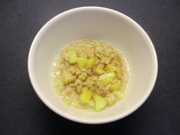 Caramel Apple Oatmeal.