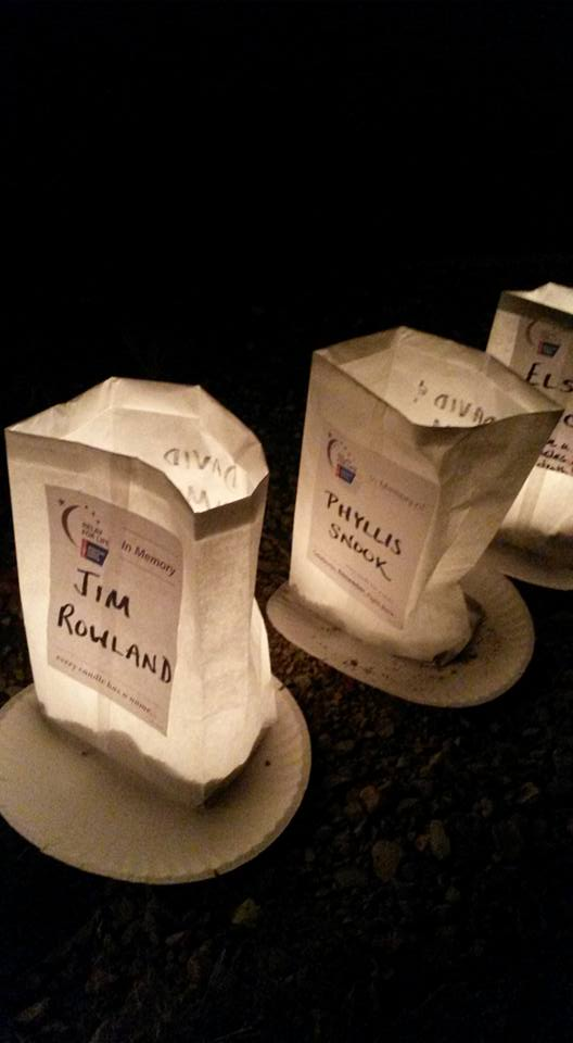 "Luminaries from ""Relay for Life."""