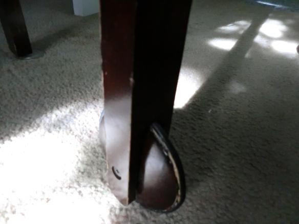 Repaired Wheeled leg