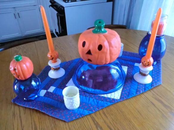 Orange and Cobalt arrangement.