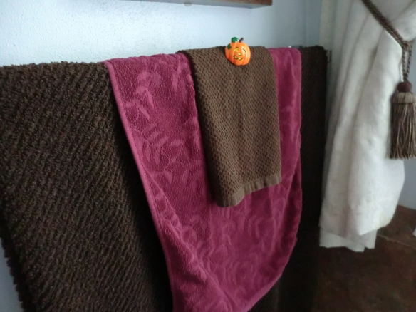 My pumpkin on my towels.