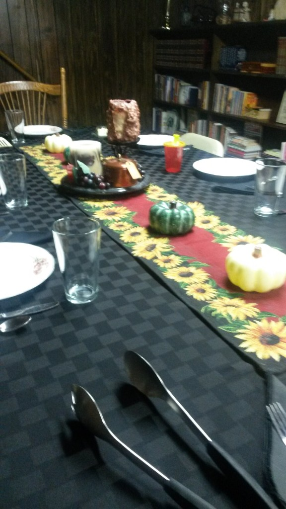 Dining Room table set for my birthday dinner.