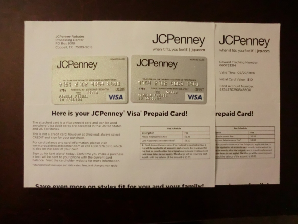 These cards cannot be redeemed at Penneys or anywhere else.