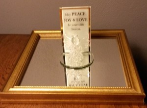 My sister, Michele, gave me this crystal angel and I found a place for her on an end table.