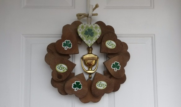 DIY St. Patrick's Day wreath.