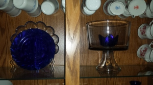 Plates in china cabinet