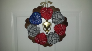 Patriotic Wreath on door