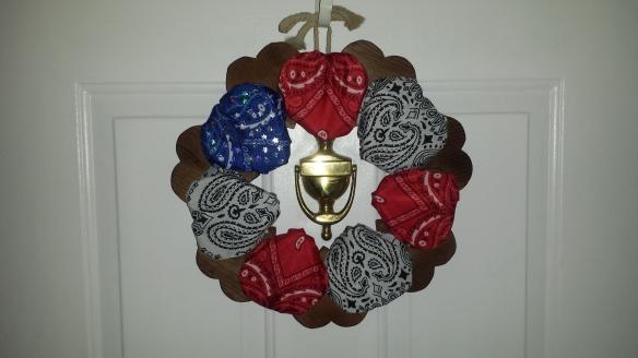 Patriotic Wreath on door