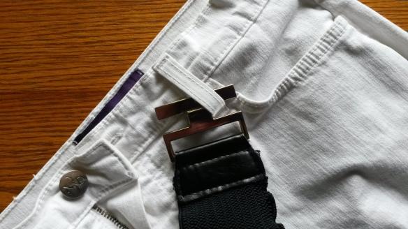Belt on jeans