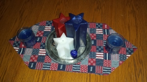 Candles on a table runner