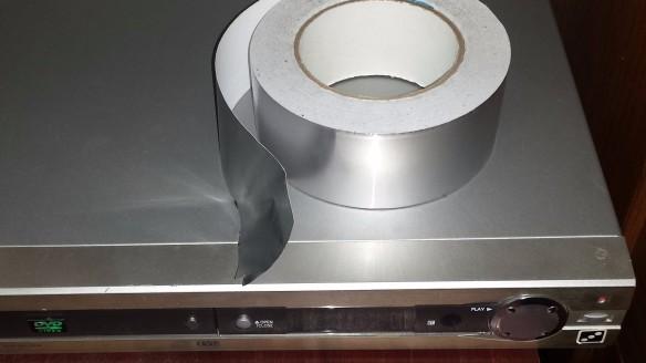 Aluminum Foil Tape on DVD Player