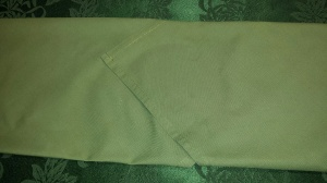 2 folded napkins