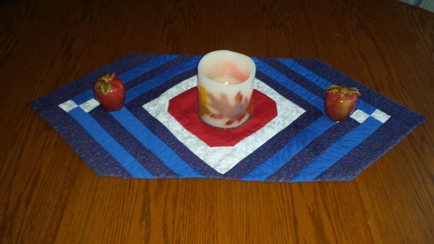 """Leaf candle with apple salt & pepper shakers, """"September Decoration Flip"""" frugalfish.org"""