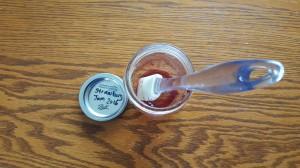 """Empty jar of jam """"Last Taste of Summer"""" frugalfish.org"""