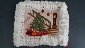 "Unfinished Christmas Pillow ""De-Stress Christmas"" frugalfish.org"