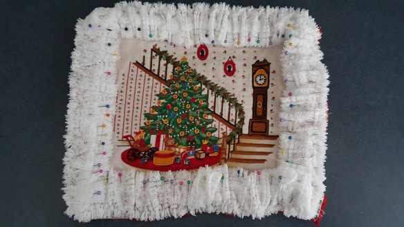 """Unfinished Christmas Pillow """"De-Stress Christmas"""" frugalfish.org"""