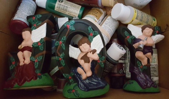 """Unfinished Figurines """"De-Stress Christmas"""" frugalfish.org"""