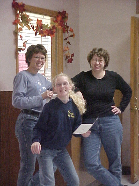 """Jenny, Katie, & I """"Resolved . . ."""" frugalfish.org"""