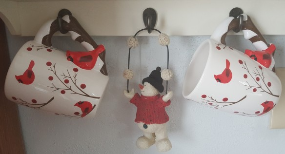"""Mugs and Snowman """"Whiter than Snow"""" frugalfish.org"""