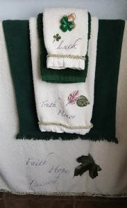 "Irish Towels ""St. Patrick's Day 2017"" frugalfish.org"