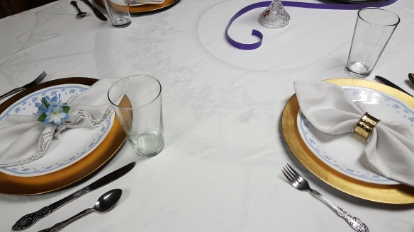 """Mismatched Napkin Rings """"Lilac Easter Dinner"""" frugalfish.org"""