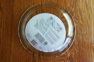 """Etched Pie Plate """"Gift from the Heart"""" frugalfish.org"""