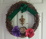 "Mother's Day Wreath ""Displaying Priceless Artwrok"" frugalfish.org"