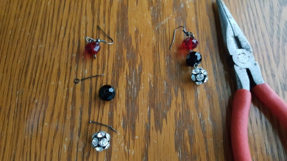 "Took 2 bottom beads off of earrings ""Goodbye Disco Balls"" frugalfish.org"
