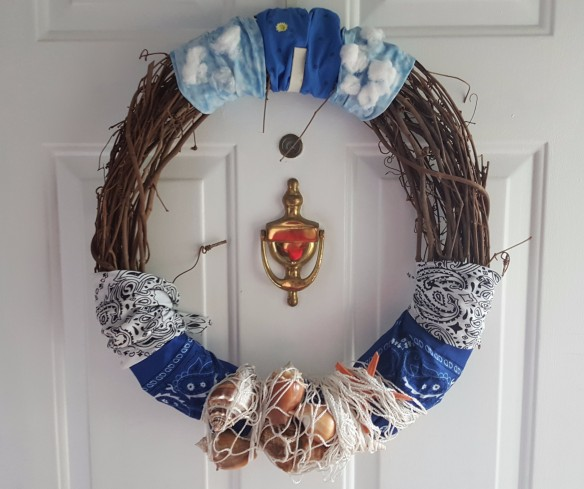 "Ocean Themed Wreath ""Ocean in the Middle of Iowa"" frugalfish.org"