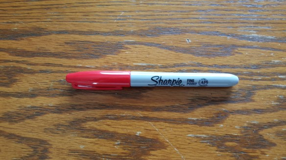"""Red Sharpie Pen """"Ottoman Rescue"""" frugalfish.org"""
