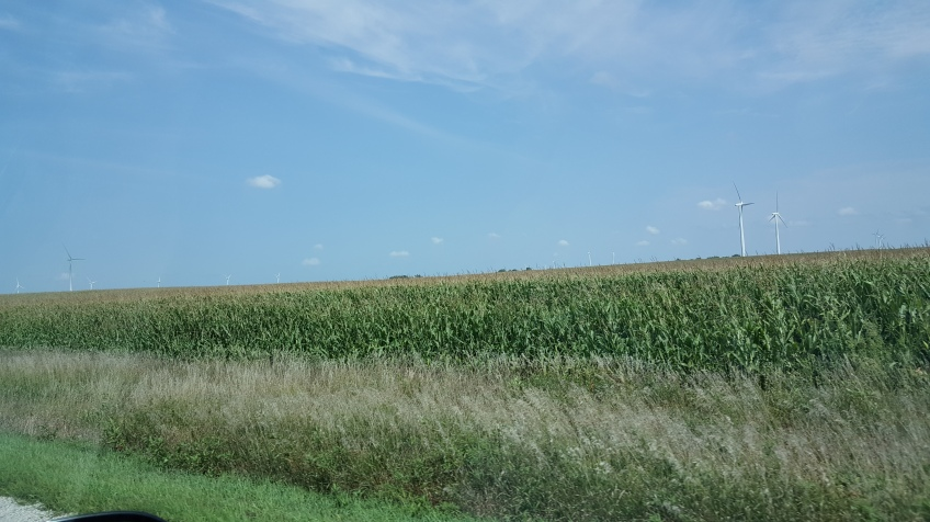 """Wind Energy Farms, """"Weekend in Mason City and Clear Lake, Iowa"""" frugalfish.org"""