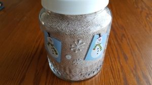 """Jar of Hot Chocolate Mix """"Kid Tested, Mother Approved Hot Chocolate Mix"""" frugalfish.org"""