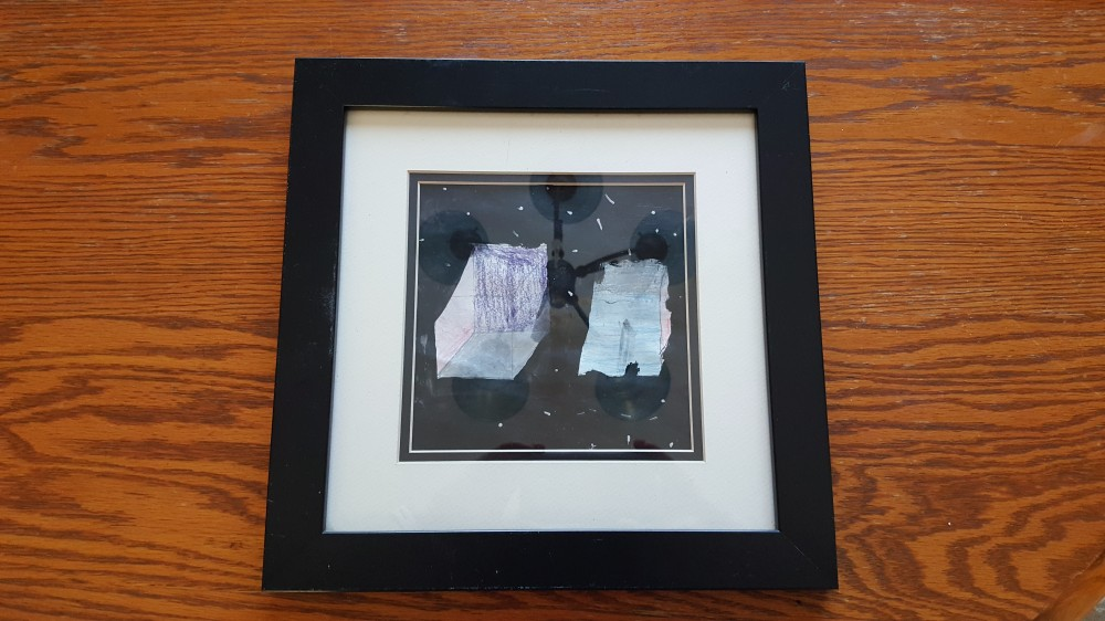 "Framed Children's Artwork, ""Priceless Gift for Grandparents, Aunts, and Uncles"" frugalfish.org"