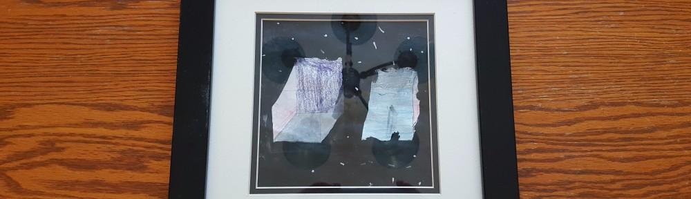 "Framed Children's Artwork, ""Priceless Gift for Grandparents, Aunts, and Uncles"" frugalfish.org"